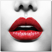 J & M Furniture Wall Art Red lips