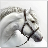J & M Furniture Wall Art White Horse