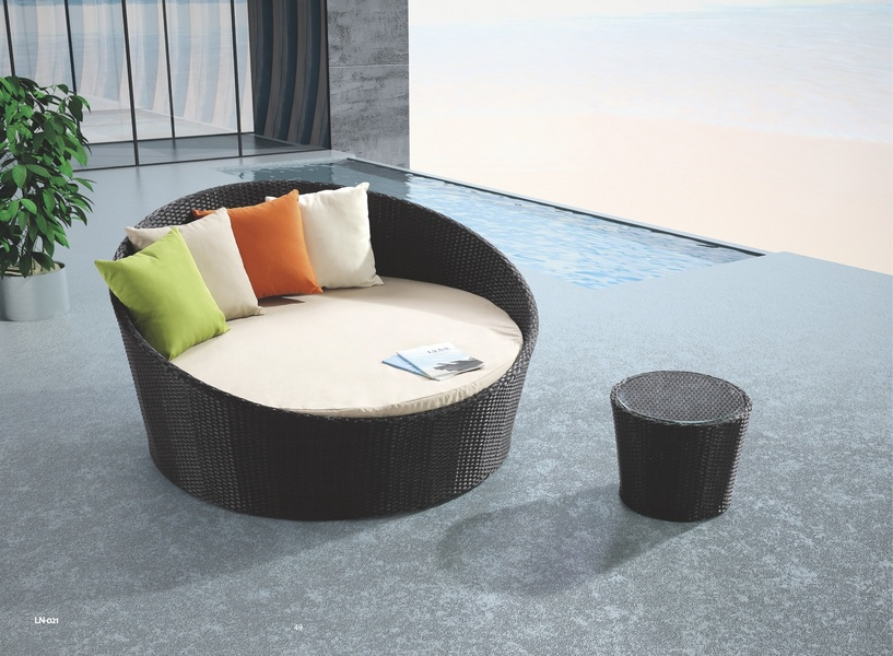 Jaavan Outdoor 63 Inch Round Bed