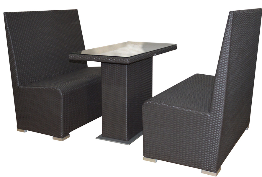 Jaavan outdoor booth table for Zfurniture alexandria