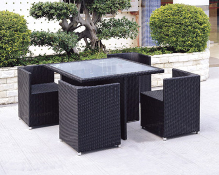 Jaavan Outdoor Fusion 5 Piece Table Set