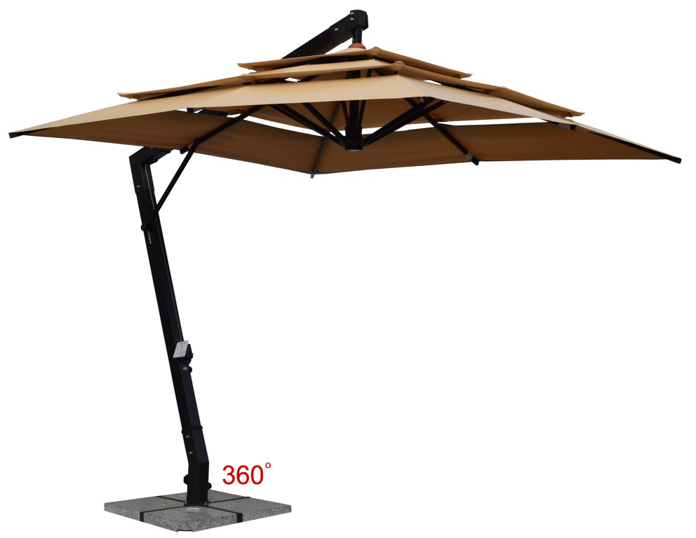 Jaavan Outdoor Hanging Commercial 3 Layers Umbrella