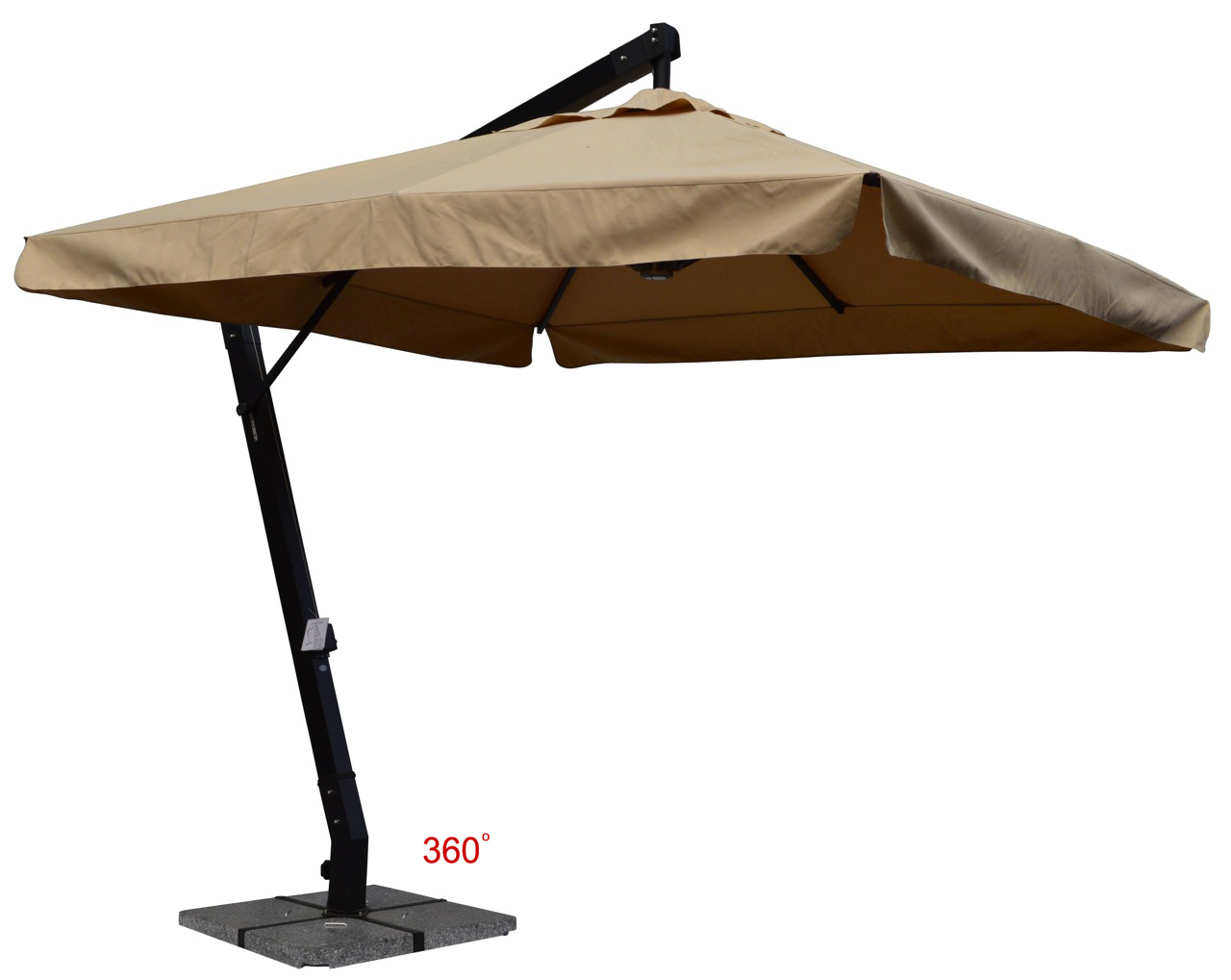 Jaavan Outdoor Hanging Commercial Single Layer Umbrella