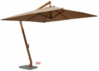 Jaavan Outdoor Hanging Residential 10x10 Single Layer Umbrella Without Flap