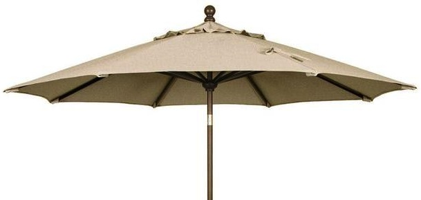 Jaavan Outdoor Round Residential Wood Umbrella