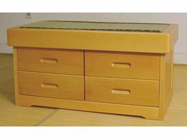 Java Tatami Bench with 4 Drawers
