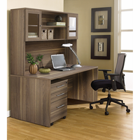 Jesper 100 Collection Executive Office Desk with Hutch in Walnut