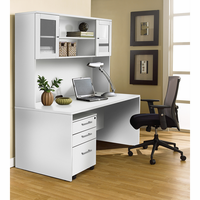 Jesper 100 Collection White Executive Office Desk with Hutch