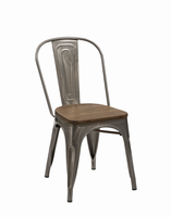 Jethro - Modern Steel & Wood Dining Chair (Set of 2)