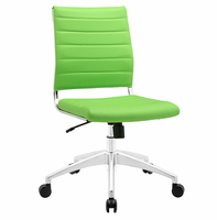 Jive Armless Mid Back Office Chair, Bright Green [FREE SHIPPING]