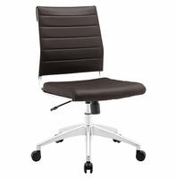 Jive Armless Mid Back Office Chair, Brown [FREE SHIPPING]