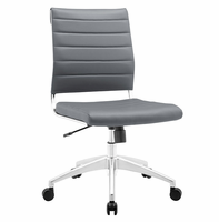 Jive Armless Mid Back Office Chair, Gray [FREE SHIPPING]