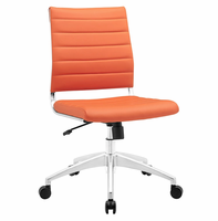 Jive Armless Mid Back Office Chair, Orange [FREE SHIPPING]