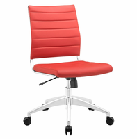 Jive Armless Mid Back Office Chair, Red [FREE SHIPPING]