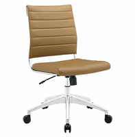 Jive Armless Mid Back Office Chair, Tan [FREE SHIPPING]