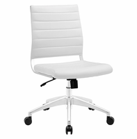 Jive Armless Mid Back Office Chair, White [FREE SHIPPING]