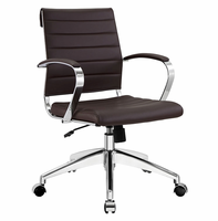 Jive Mid Back Office Chair, Brown [FREE SHIPPING]