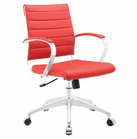 Jive Mid Back Office Chair, Red [FREE SHIPPING]