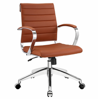 Jive Mid Back Office Chair, Terracotta [FREE SHIPPING]
