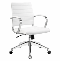 Jive Mid Back Office Chair, White [FREE SHIPPING]