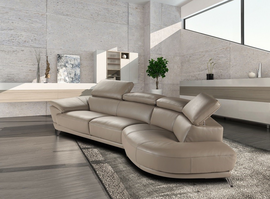 JNM  The Marisol Sectional By Nicoletti (Black Right Hand Facing Only)