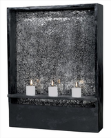 Kenroy Black Shadow Indoor Wall Fountain With Crackled Glass - Free Delivery