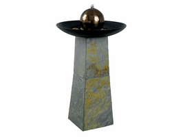 Kenroy Sleek Natural Green Slate Fountain - Free Delivery