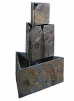 Kenroy  Stacked Triangles Floor Fountain - Free Delivery