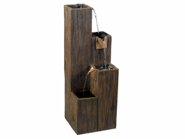 Kenroy Timber Wood Grain Finish Indoor/Outdoor Floor Fountain - Free Delivery