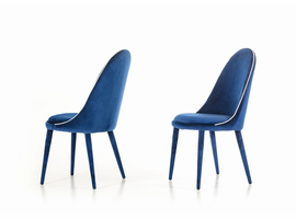 Klamath - Modern Blue & White Fabric Dining Chair (Set of 2)
