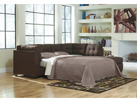 Ashley Furniture Maier Sectional Sofa With Sleeper LAF Full Sofa Sleeper, Walnut