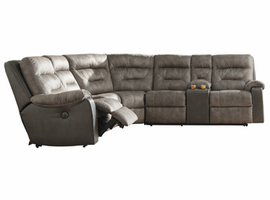 Ashley Furniture LAF Zero Wall Power Recliner, Brownstone