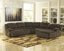Ashley Furniture LAF Zero Wall Power Recliner, Chocolate
