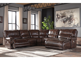 Ashley Furniture LAF Zero Wall Power Recliner, Walnut