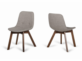 Laken - Modern Sesame & Walnut Dining Chair (Set of 2)