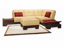Lamar Leather  Sectional Sofa
