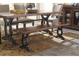 Ashley Express Furniture Large Dining Room Bench, Brown/Black