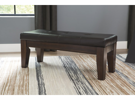 Larchmont - D442-00 - Large UPH Dining Room Bench - Burnished Dark Brown