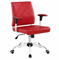 Lattice Vinyl Office Chair, Red [FREE SHIPPING]