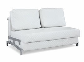 Lifestyle Solutions ST-Martin White Sleep Sofa Convertible