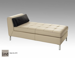 Lind 972 Armless Long Chaise