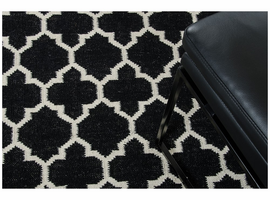 Linie Design Adelyn Black Wool Rug