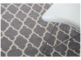 Linie Design Adelyn Grey Wool Rug