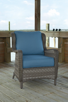 Ashley Furniture Lounge Chair with Cushion (2/CN), Blue/Gray