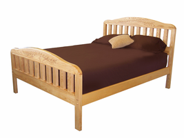 Lubec Platform Bed with Matching Footboard