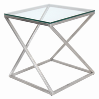 LumiSource 4Z End Contemporary Table in Clear