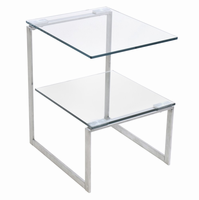 LumiSource 6G End Contemporary Table in Clear