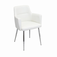LumiSource Andrew Dining Contemporary Chair - Set Of 2 in White