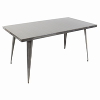 LumiSource Austin Industrial Dining Table