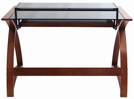 LumiSource Bentley Contemporary Desk in Wenge and Black